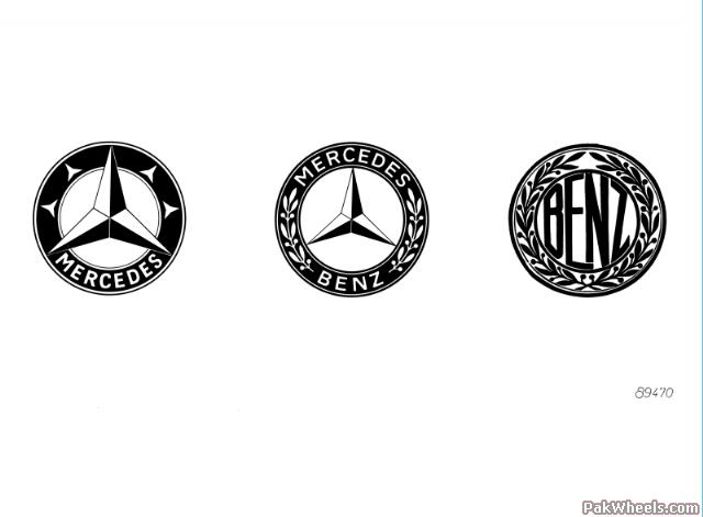 Mercedes old and new logo Mercedes Benz old ad