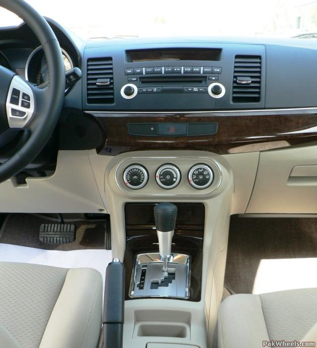 Mitsubishi Lancer 2009 Interior. The interior is not great in